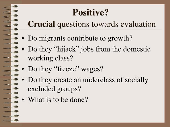Positive?