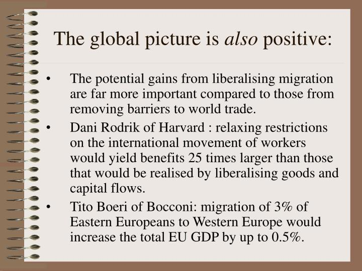 The global picture is