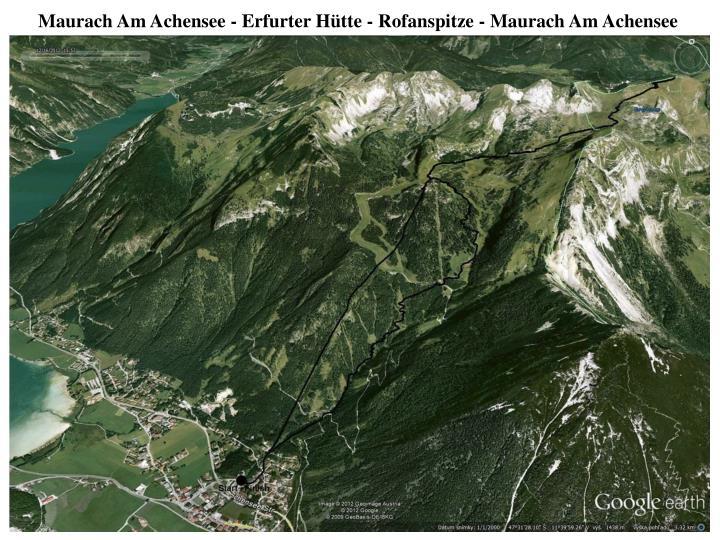 Maurach Am Achensee - Erfurter Hütte