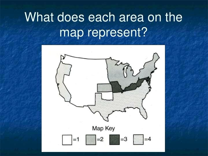 What does each area on the map represent?