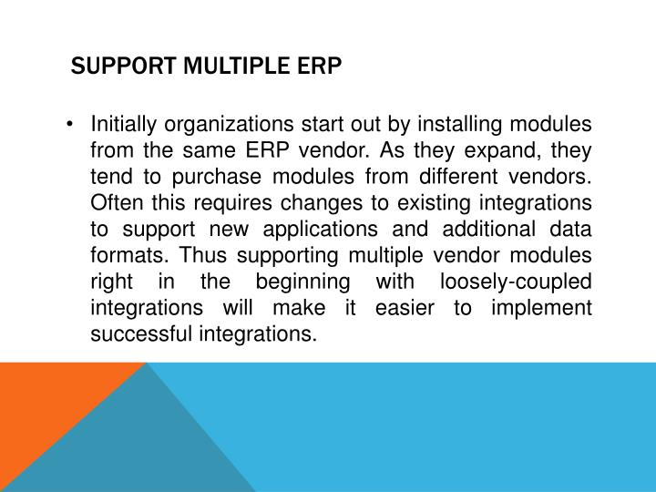 Support Multiple ERP