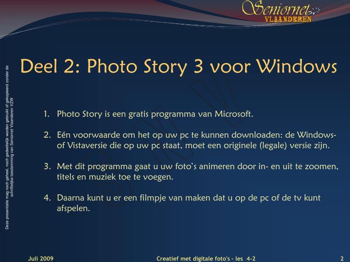 Deel 2: Photo Story
