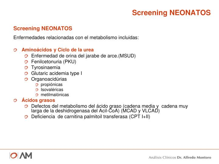 Screening NEONATOS