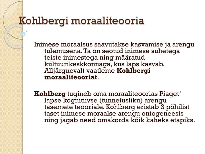 Kohlbergi moraaliteooria