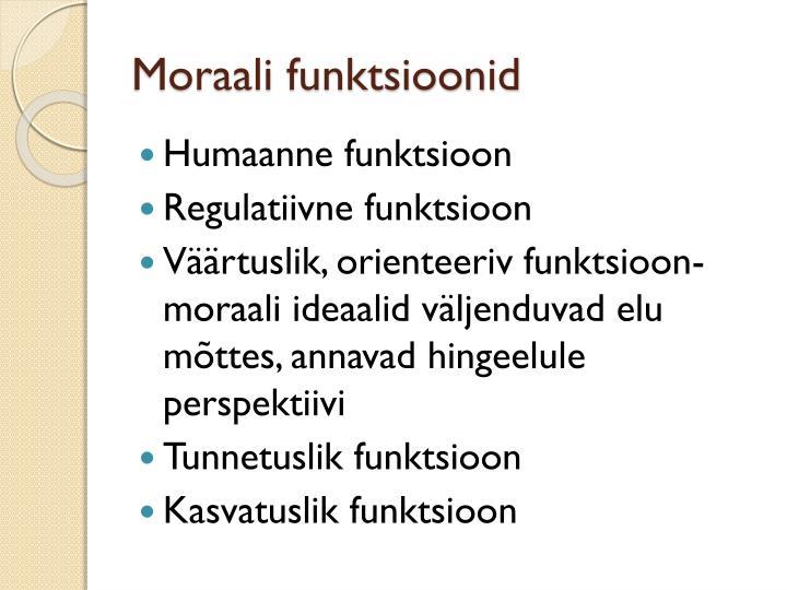 Moraali funktsioonid