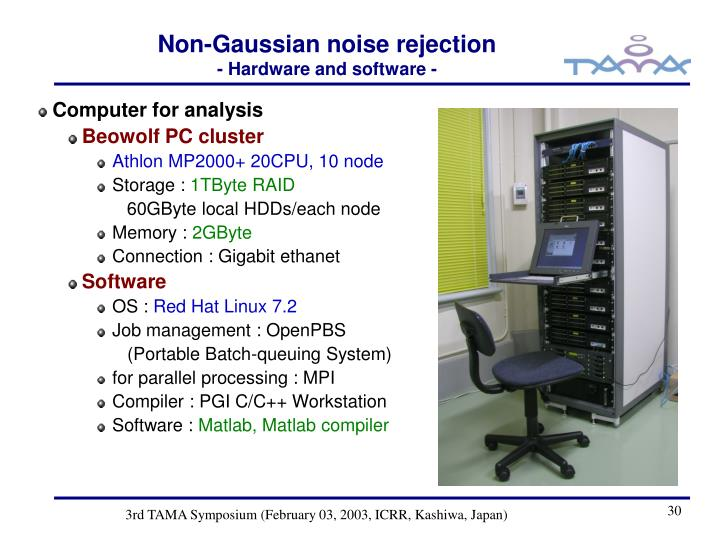 Non-Gaussian noise rejection