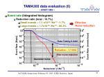 tama300 data evaluation 6 event rate