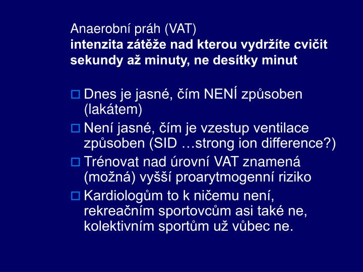 Anaerobní práh (VAT)