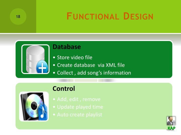 Functional Design