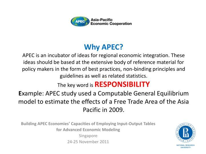 Why APEC?