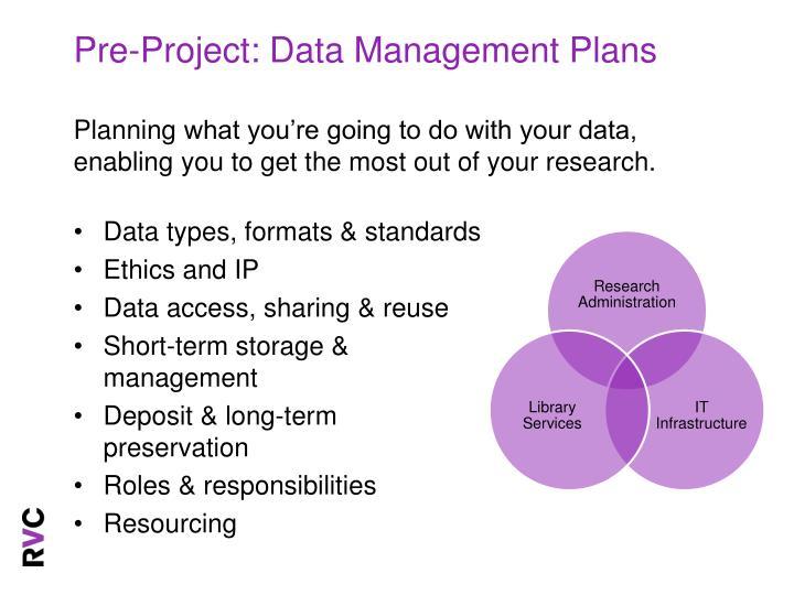 Pre-Project: Data Management Plans