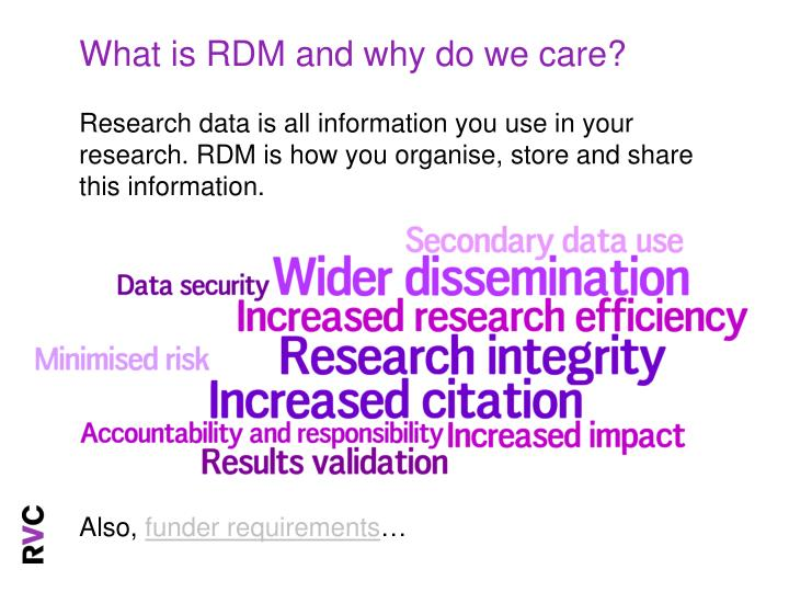 What is RDM and why do we care?