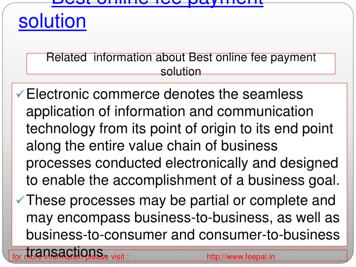 Best online fee payment solution