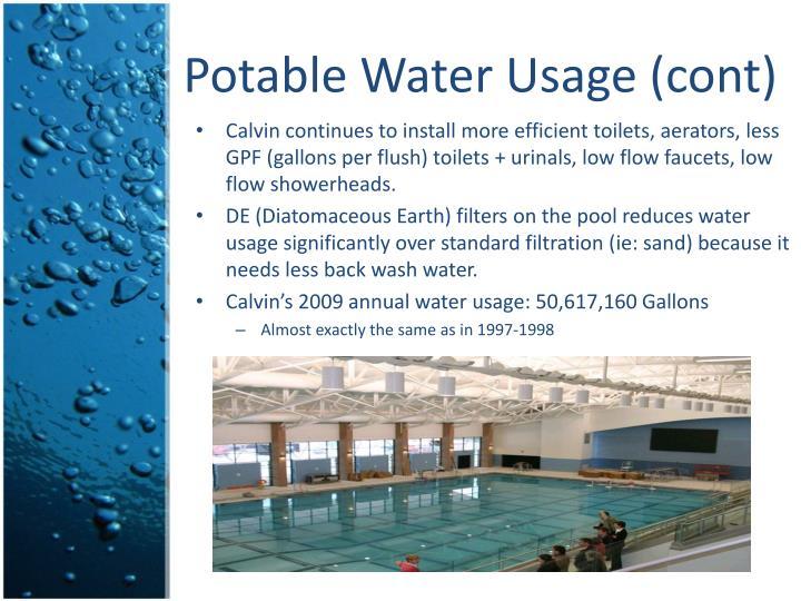 Potable Water Usage (