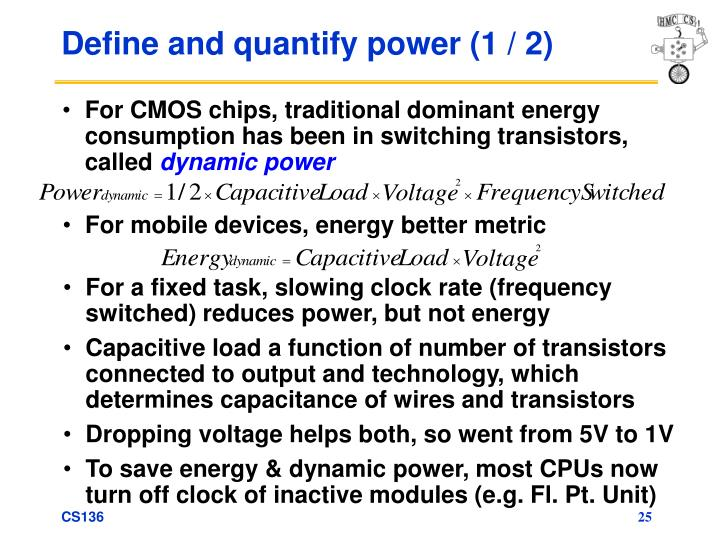 Define and quantify power (1 / 2)