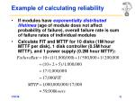 example of calculating reliability