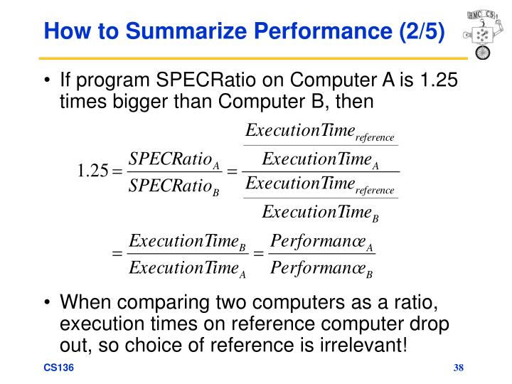 How to Summarize Performance (2/5)