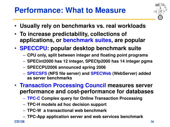 Performance: What to Measure