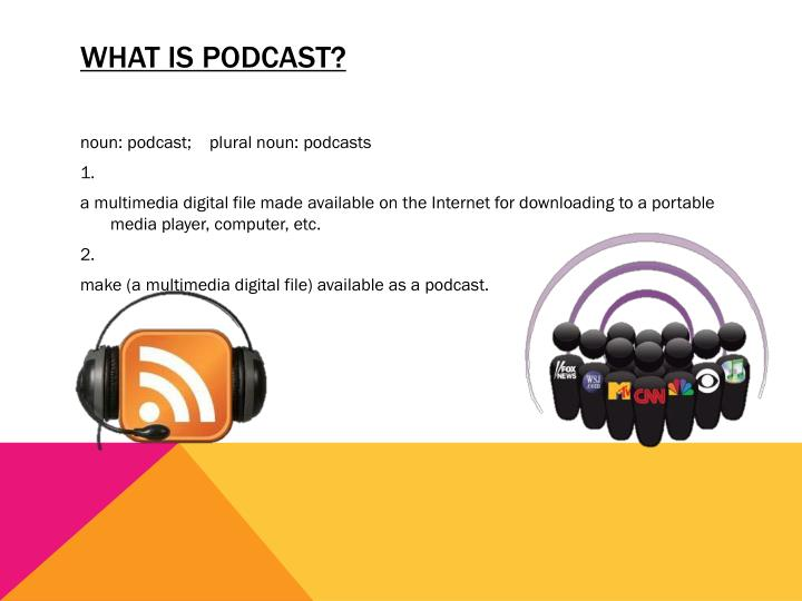 WHAT IS PODCAST?