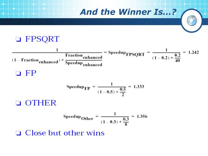 And the Winner Is…?