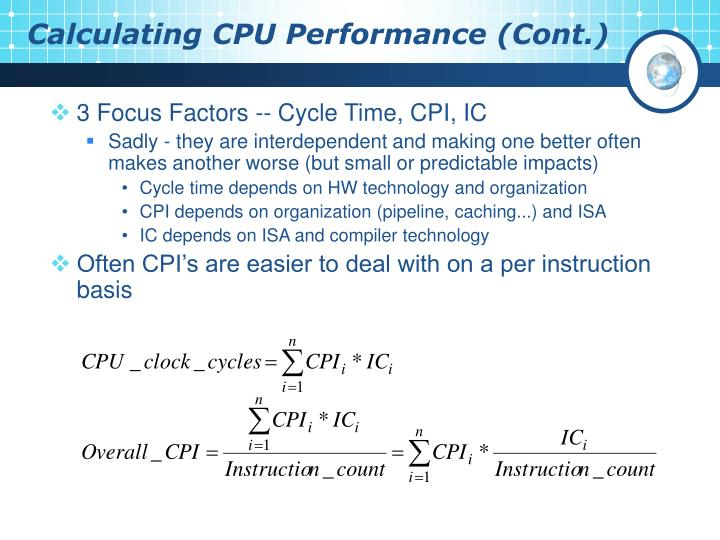 Calculating CPU Performance (Cont.)