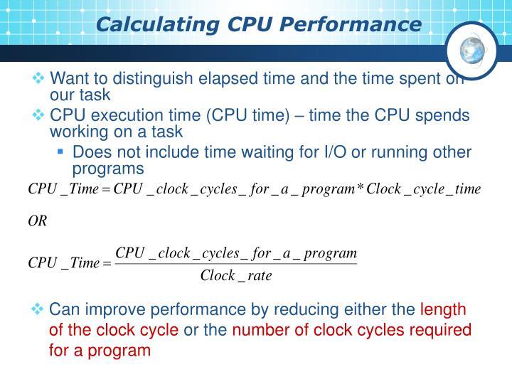 Calculating CPU Performance