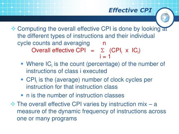 Effective CPI