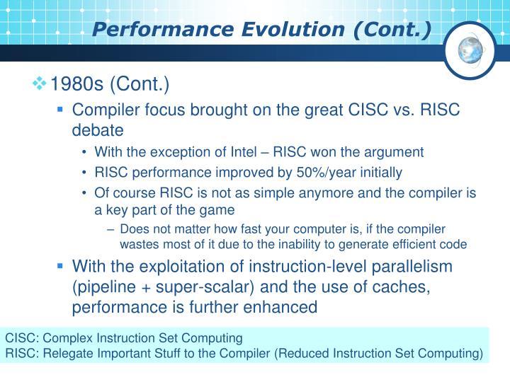 Performance Evolution (Cont.)