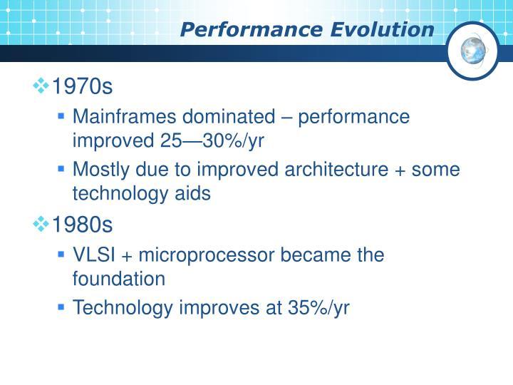Performance Evolution