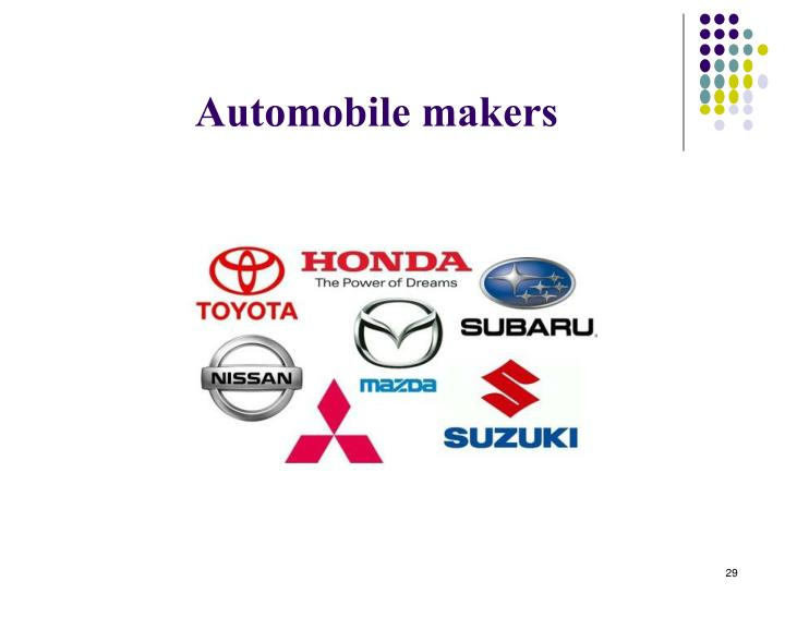 Automobile makers