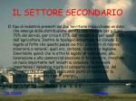 il settore secondario