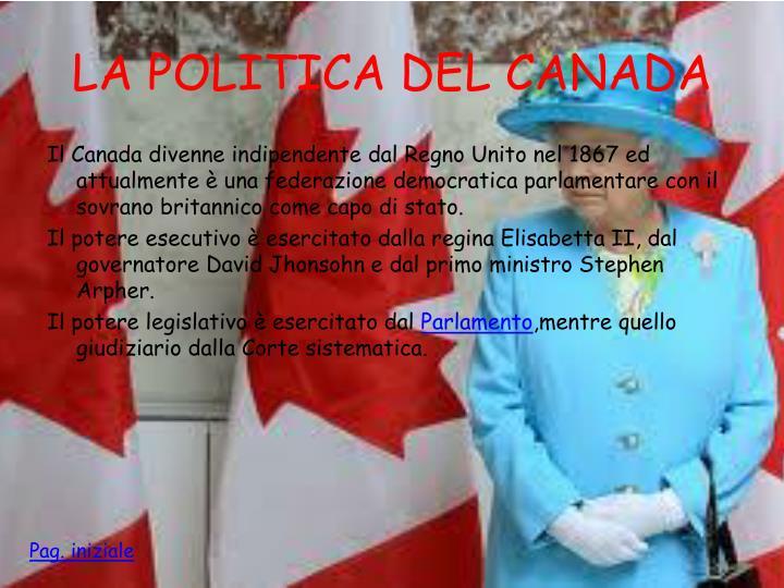 LA POLITICA DEL CANADA