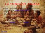 la storia del canada