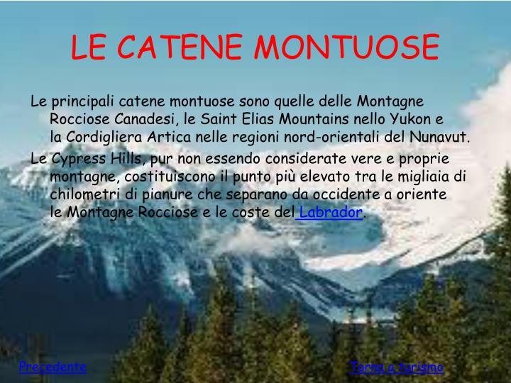 LE CATENE MONTUOSE