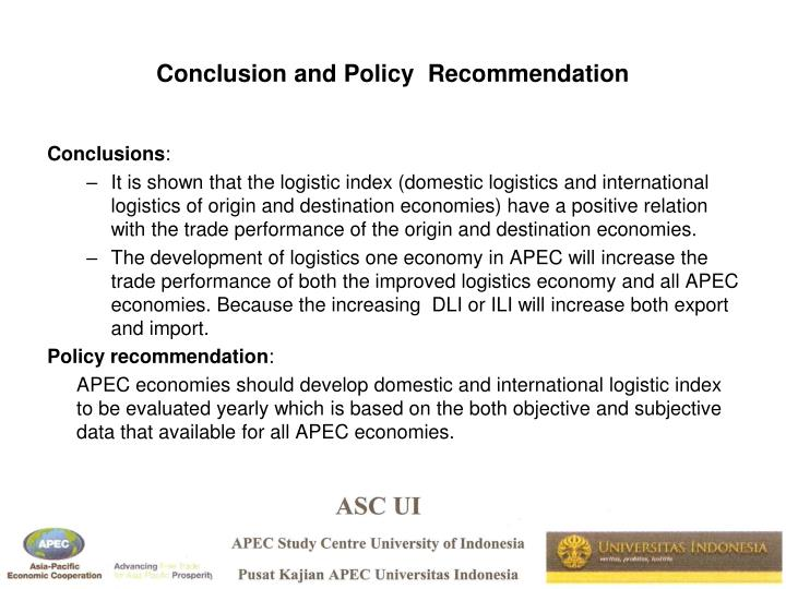 Conclusion and Policy  Recommendation