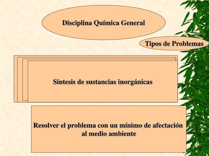 Disciplina Química General