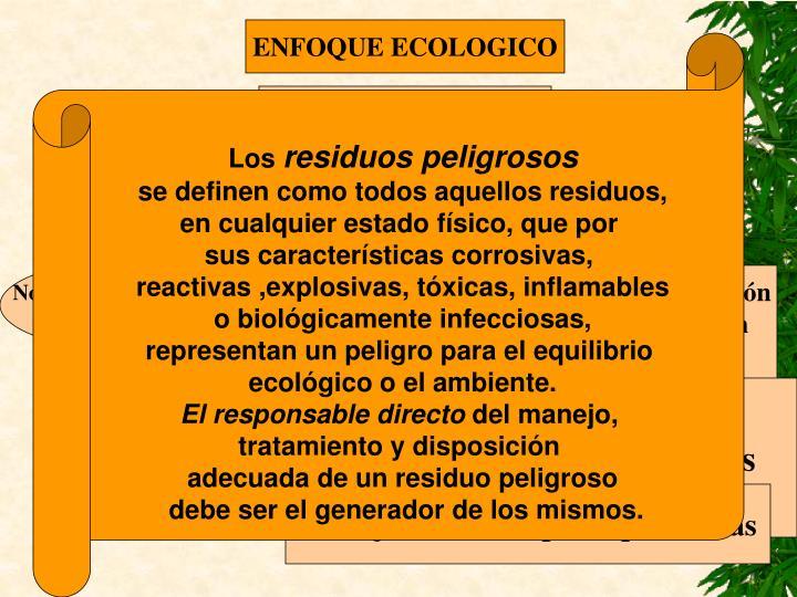 ENFOQUE ECOLOGICO