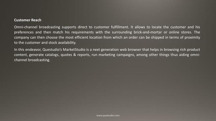 Customer Reach