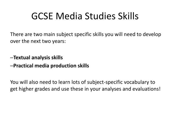 GCSE Media Studies Skills