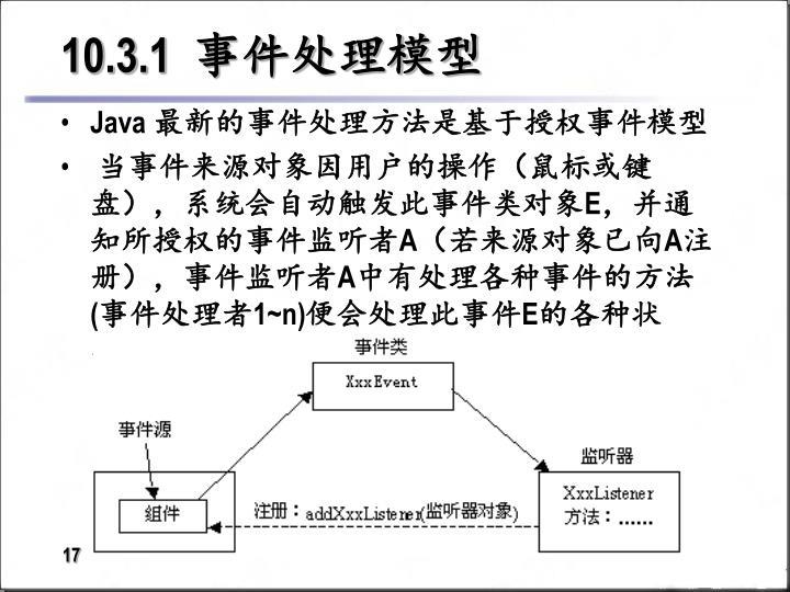 10.3.1  事件处理模型