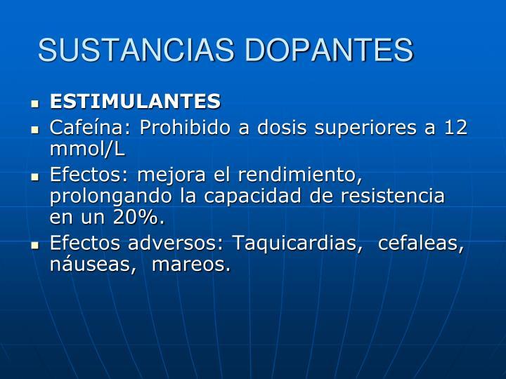 SUSTANCIAS DOPANTES