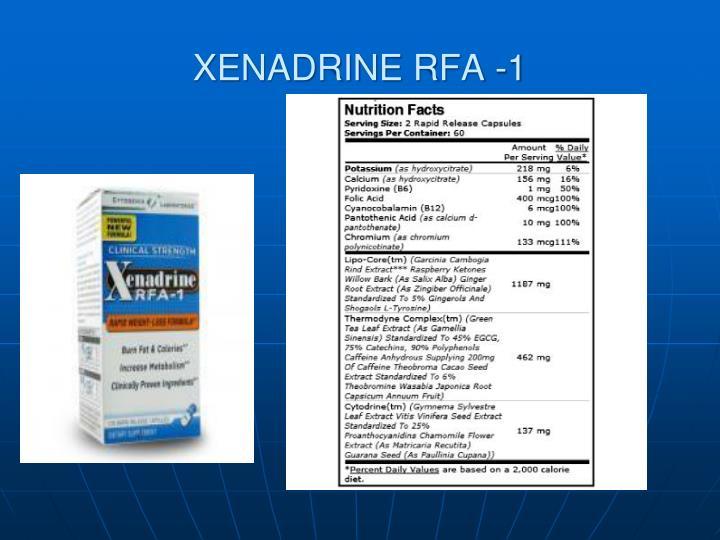 XENADRINE RFA -1