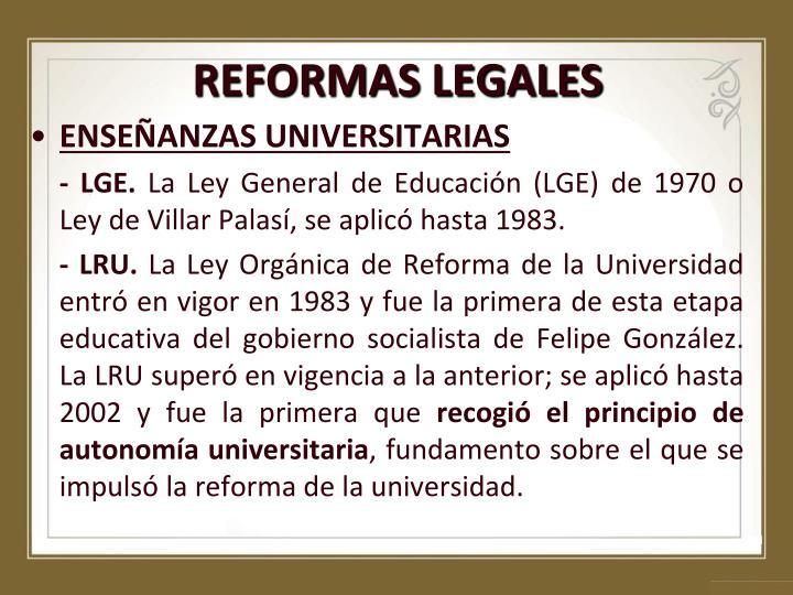 REFORMAS LEGALES