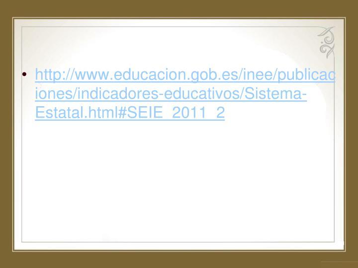http://www.educacion.gob.es/inee/publicaciones/indicadores-educativos/Sistema-Estatal.html#SEIE_2011_2