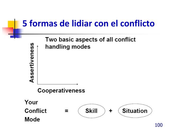 5 formas de lidiar con el conflicto