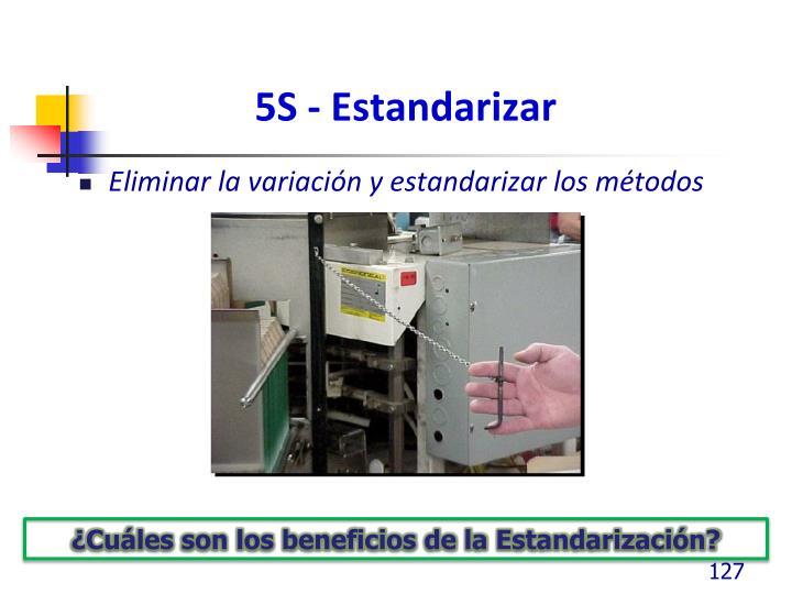 5S - Estandarizar