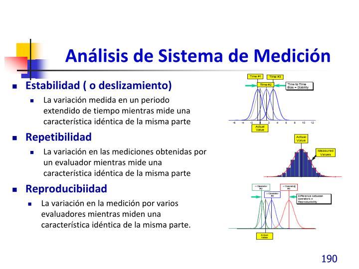 Análisis de Sistema de Medición