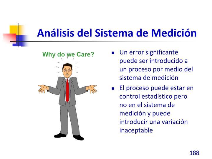 Análisis del Sistema de Medición