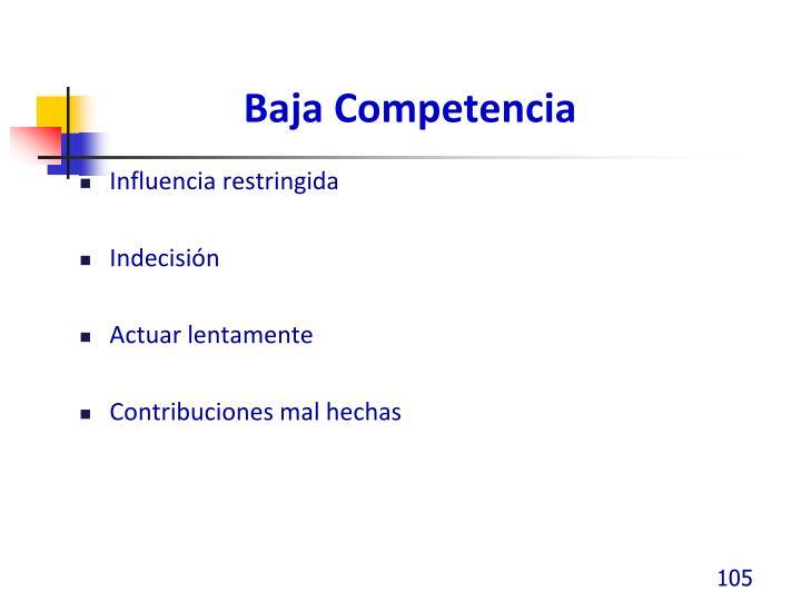 Baja Competencia