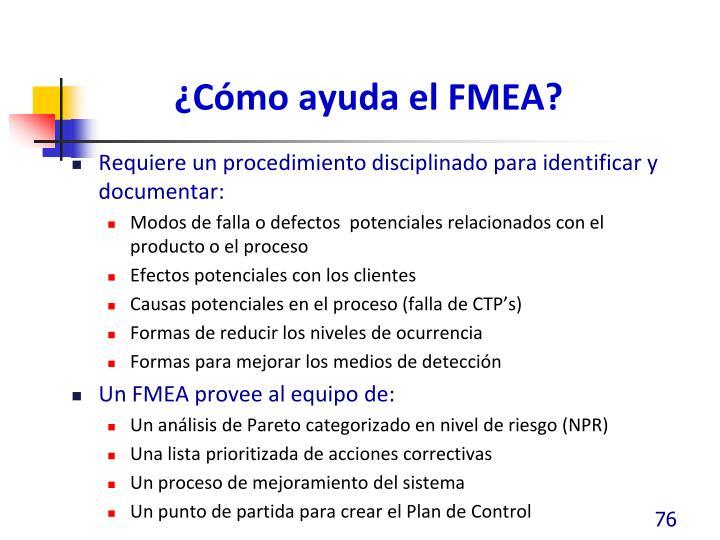 ¿Cómo ayuda el FMEA?